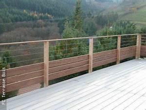 Garde Corps Terrasse Bois : garde corps bois inox fc terrasse bois terrasse en ~ Dailycaller-alerts.com Idées de Décoration