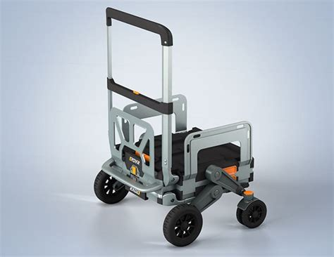 Handcart With Adjustable Push Pull Handle And Side Panels