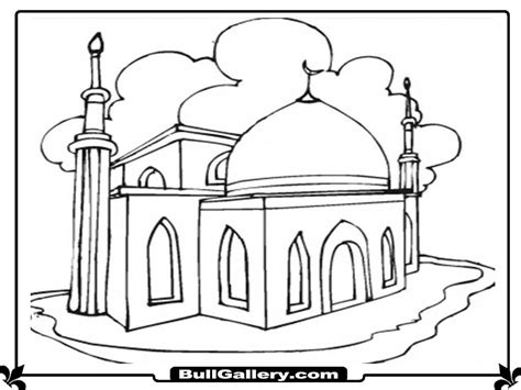 Coloring Mosque by Mosque Coloring Pages