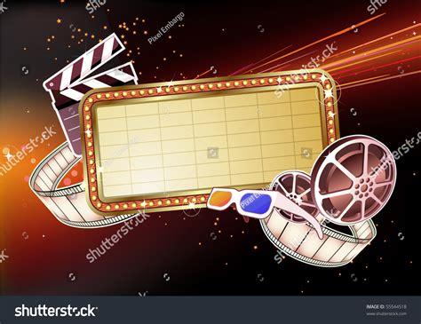 Movie Billboard Clip Art vector illustration retro illuminated  marque stock 1500 x 1156 · jpeg