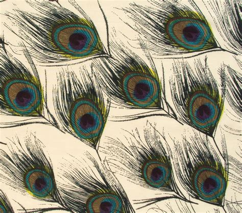 Peacock Feather Upholstery Fabric by Cotton Fabric Print Peacock Feather Print On By Pallavik