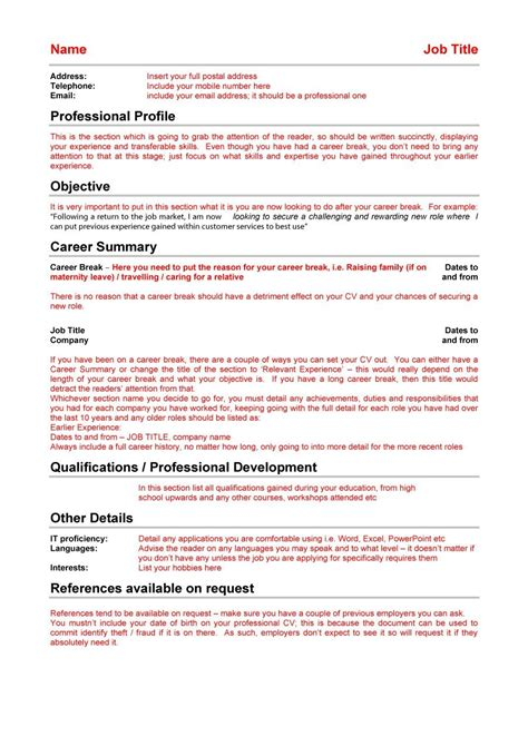 Exle Of A Great Cv by 48 Great Curriculum Vitae Templates Exles Template Lab
