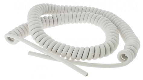 cable spiral 233 3g1 mm longueur 3 m 232 tres blanc 19 50