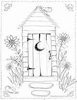 Outhouse Coloring Pages Bathroom Drawing Colouring Cross Country Scene Christmas Adult Horse Sheets Scenes Watercolour Getdrawings Freesawpatterns Buggy sketch template