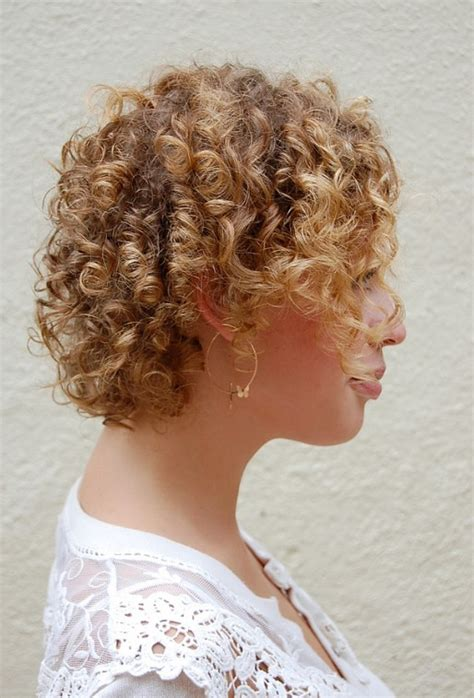 cute corkscrew curls   shaped nape haircut