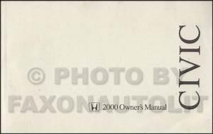 2000 Honda Civic Coupe Owners Manual Original 2 Door User