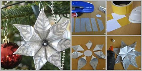 hand made christmas out of paper wonderful diy glittery styrofoam ornaments for