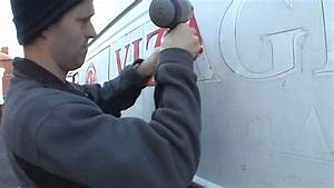 how to remove vinyl lettering from a van youtube With removing vinyl lettering from vehicle