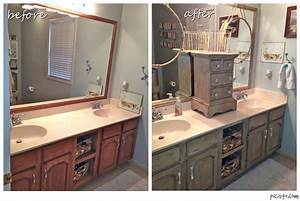 bathroom vanity makeover with annie sloan chalk paint With what kind of paint to use on kitchen cabinets for mirror wall art ideas