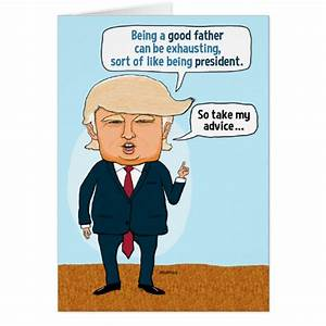 Funny Father's Day Trump Golfing Card | Zazzle.com