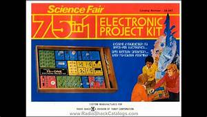 Radio Shack Science Fair 75 In 1 Electronic Project Kit