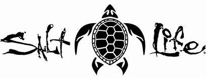 Salt Decals Silhouette Decal Vinyl Turtle Tribal
