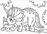 Coloring Dinosaurs Pages Children Triceratops Dinosaur Printable Cartoon Colouring Justcolor Funny Sheets Animals Adult sketch template