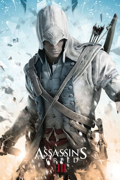 poster quadro assassins creed iii connor em europosterspt