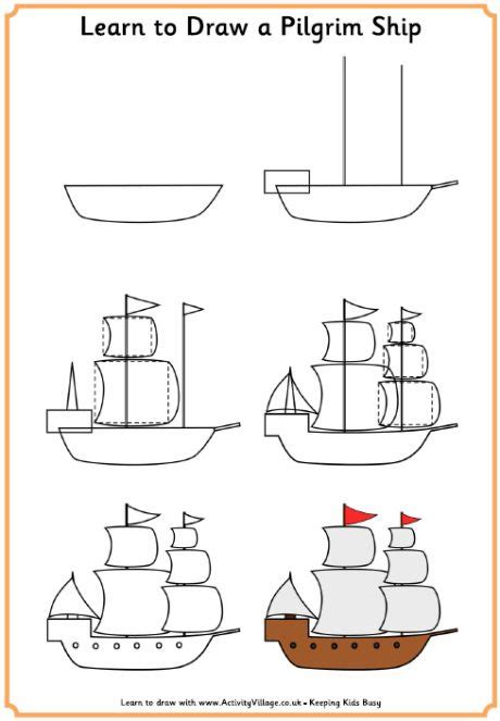 How To Draw A Boat Kindergarten by 25 Best Ideas About Ship Drawing On Pinterest Pirate