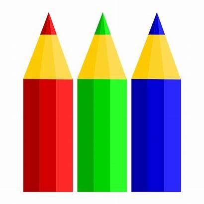 Crayon Pencil Pencils Clipart Cartoon Colored Crayons