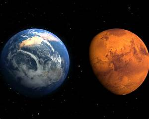 Earth And Mars Compare Hd Wallpaper : Wallpapers13.com
