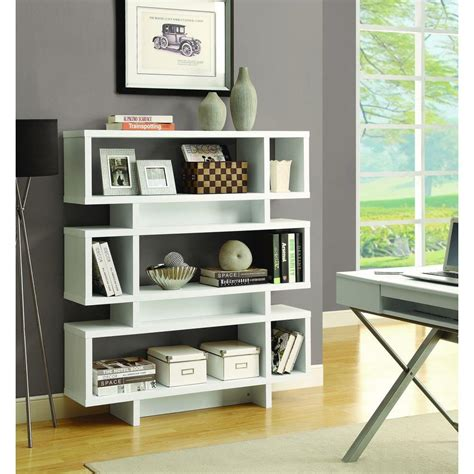 Open Bookcase White by Monarch Specialties White Open Bookcase I 2532 The Home