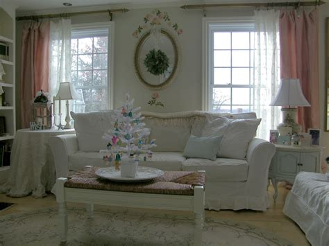 White Living Room Curtains French Country White Living