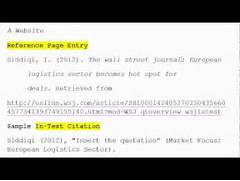 How To Use APA Format For Citation No 3 A Website YouTube Apa Style References Website Without Author Mla Sample Gallery For Apa Website Citation No Author Apa Format Reference Page Website No Author Apa