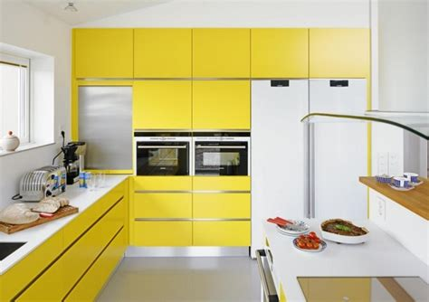 Yellow And White Kitchen Designs, Cabinets, Ideas, Photos