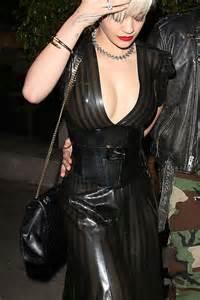 rita ora  leather dress  gotceleb
