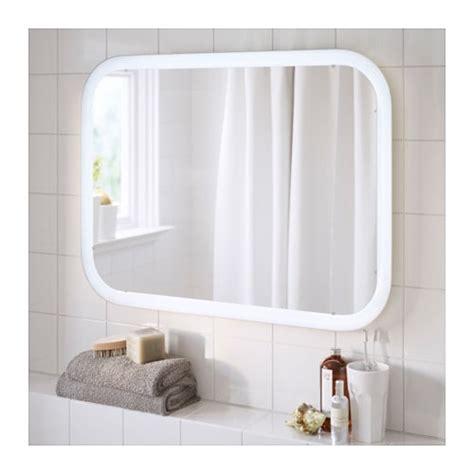 ikea light mirror storjorm mirror with integrated lighting white 80x60 cm ikea