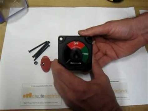 ozautoelectrics battery master switch with removable key mov