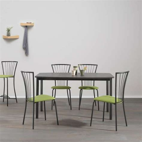 table cuisine contemporaine design table de cuisine contemporaine en mélaminé et métal