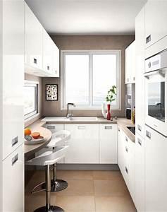 cuisine avec coin repas table bar ilot pour manger With meuble cuisine petit espace 11 amenagement dune cuisine deco avec une kitchenette