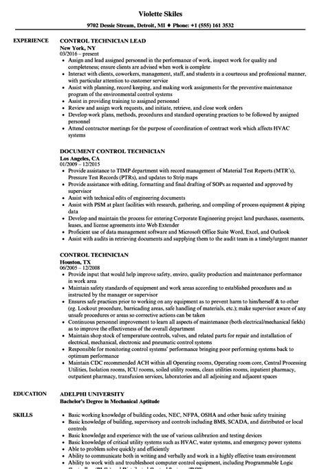 controller technician resume templatedosecom