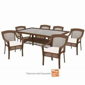 hampton bay spring haven brown 7 piece patio dining set With spring haven furniture home depot