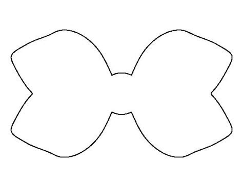 hair bow template hair bow pattern use the printable outline for crafts creating stencils scrapbooking and