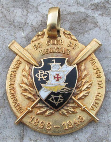 Medalha Ouro - Cinquentenário Vasco Da Gama - Escudo ...