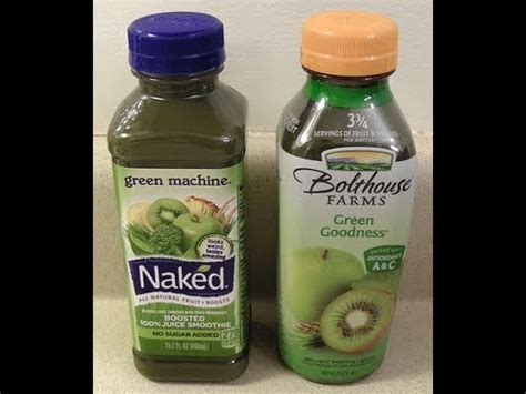 Boat Day Drinks by Green Machine Vs Bolthouse Farms Green Goodness