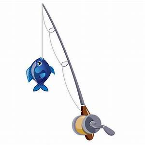 Fishing Rod clipart - Pencil and in color fishing rod clipart