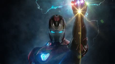 wallpaper iron man infinity gauntlet hd creative