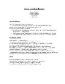 resume for high student pdf soccer coaching resume sle