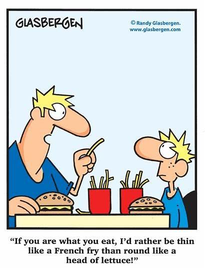 Cartoons Humor Funny Diet Healthy Glasbergen Nutrition