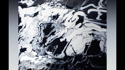 Abstract Painting Black And White abstract painting fluid acrylic painting by brigitte