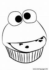 Cupcake Coloring Pages Cute Easy Printable Muffin Funny Food Faces Simple Outline Cupcakes Print Drawing Sesame Street Sheet Christmas Toddler sketch template