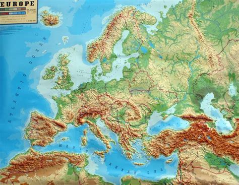 Carte Relief Europe Centrale by Geo Institut Raised Relief Maps Europe Relief Map