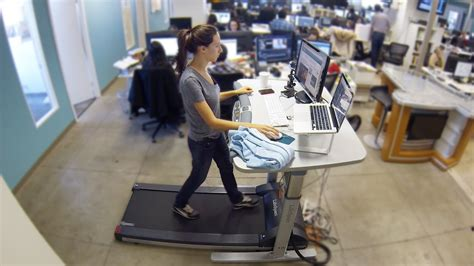 we tried a treadmill desk because sitting at work is