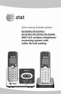 At U0026t Dect 6 0 El52201 User Manual