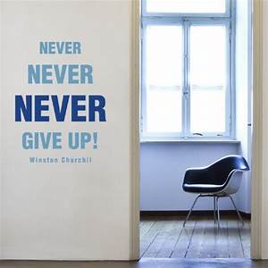 This motivation wall sticker features the quote quot never