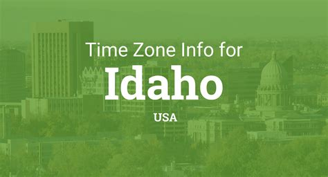 time zones  idaho united states