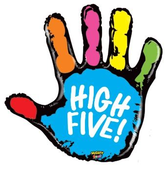 High Five Clip Clipart High Five Pencil And In Color Clipart