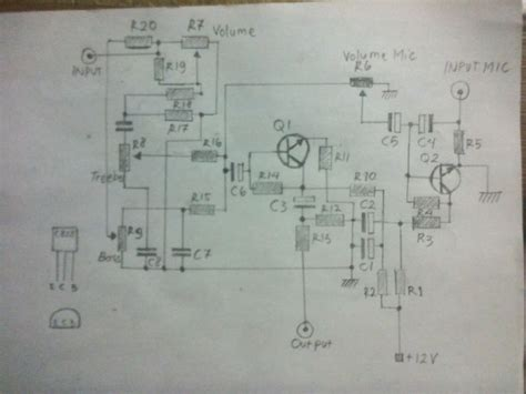 Tone Control With Preamp Mic Circuit Hubby Project