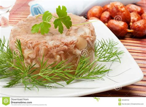 aspic cuisine traditional food in aspic stock photography