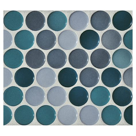 kitchen countertops backsplash mosaic cerulean blend gloss complete tile